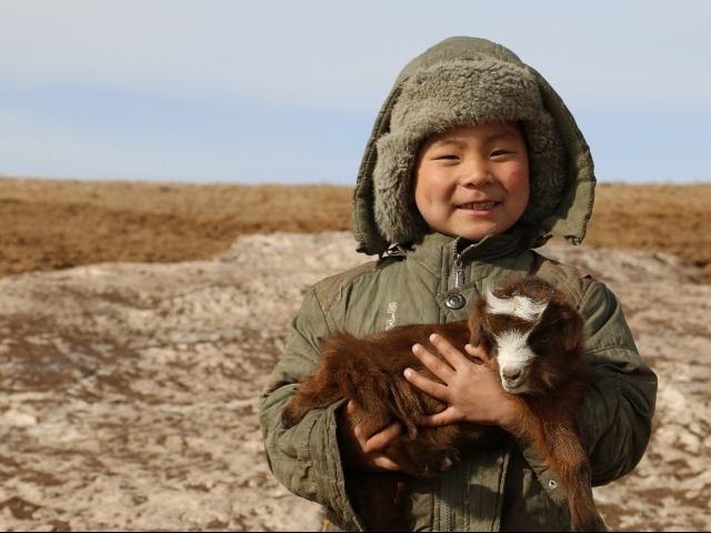 A beneficiary from the Humanitarian Emergence Project funded by SIDA, Mongolia 2016