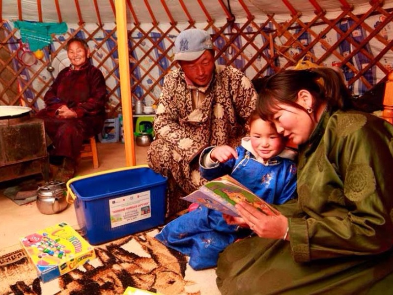 Over 8,000 children from the most isolated areas in Mongolia has benefited from the project.
